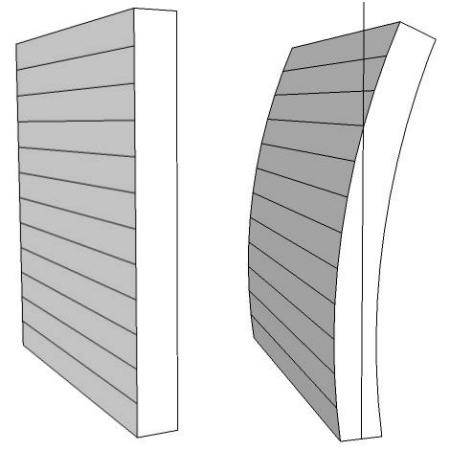 tall thin gabion wall