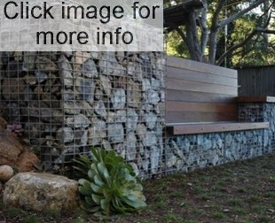 Delicieux Gabion Wall With Seat