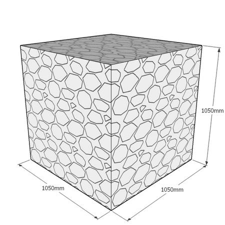 1050mm gabion cube