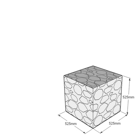 525mm gabion cube