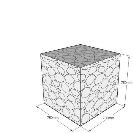 750mm gabion cube