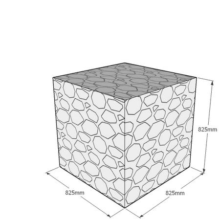 825mm gabion cube
