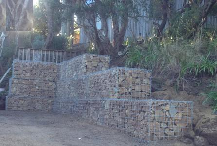 large gabion with surcharge