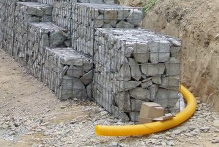 drainage pipe placement