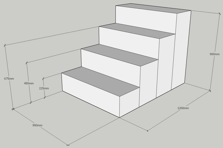 gabion step layout drawing