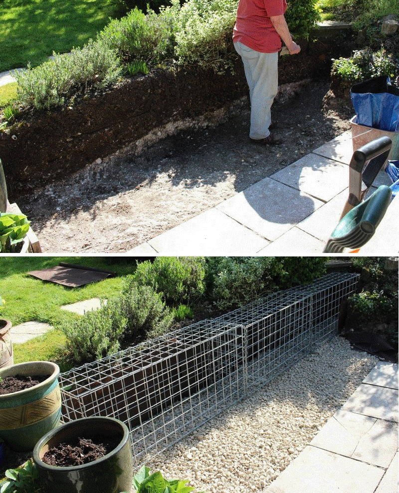 small gabion foundation