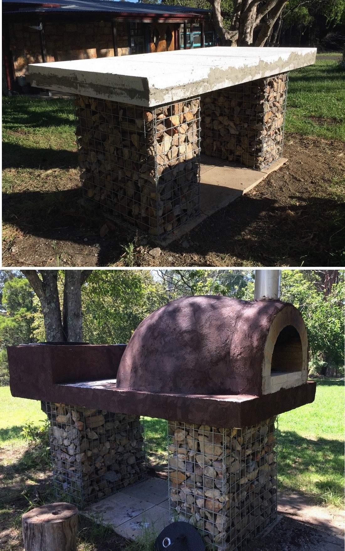 gabion oven base detail