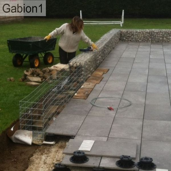 small gabion wall construction