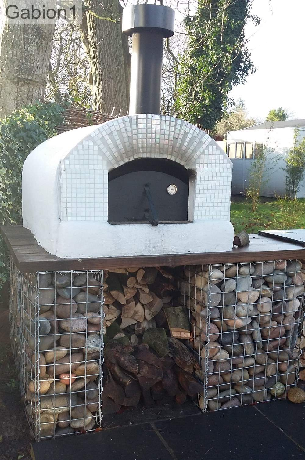 gabion pizza oven base example