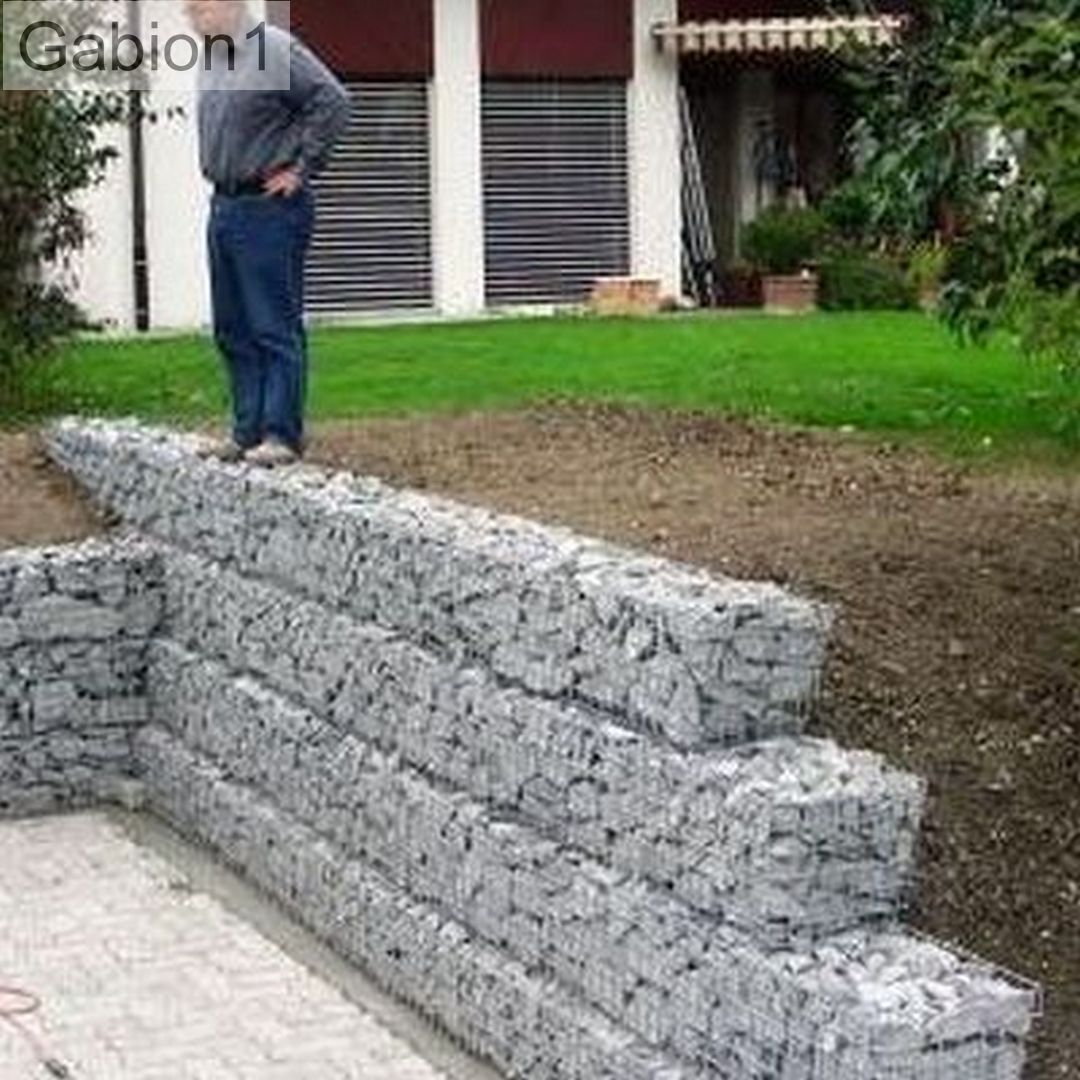 small gabion retaining wall