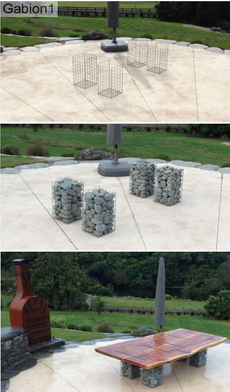 gabion table construction