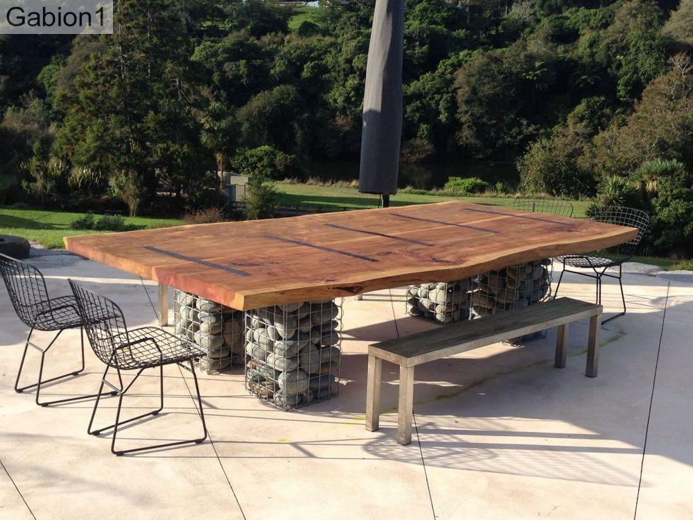 gabion-table base