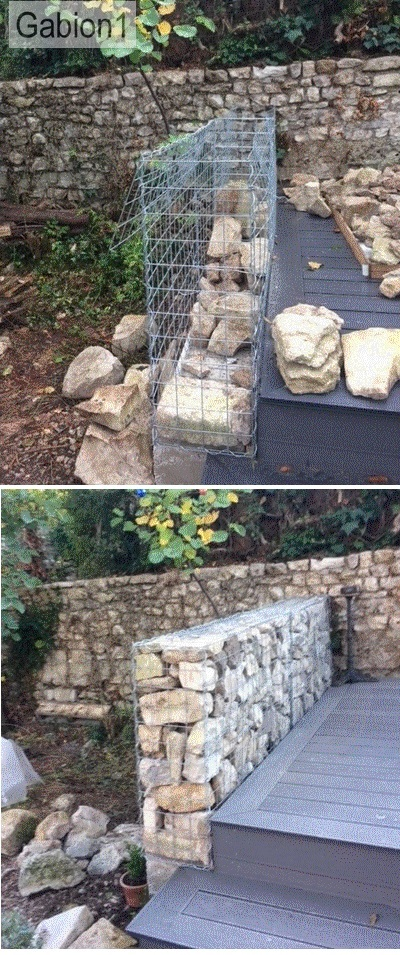 gabion garden fence