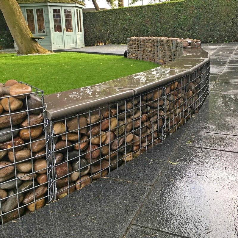 paving slab capped gabion