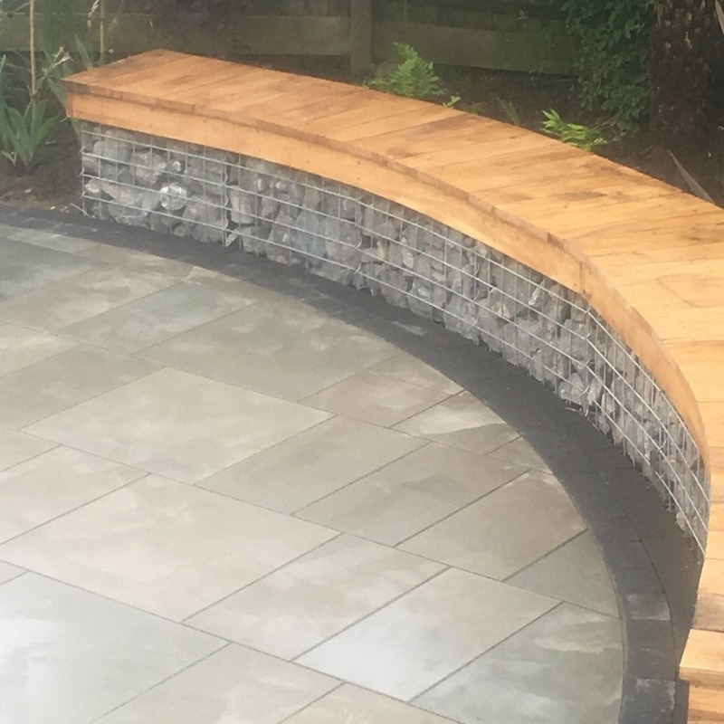 gabion curved seating