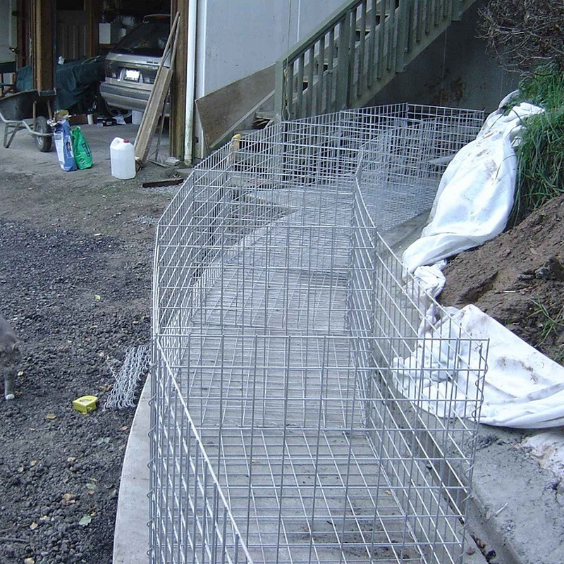 gabion curved wall set out