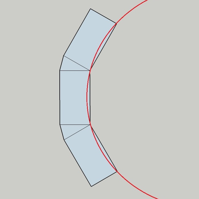 curved wall set out plan