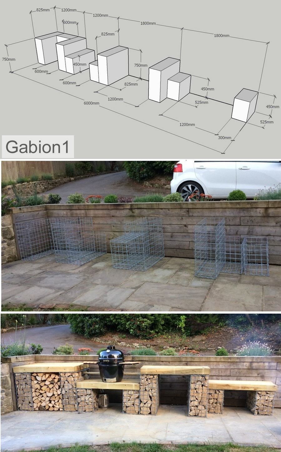 gabion bbq tables