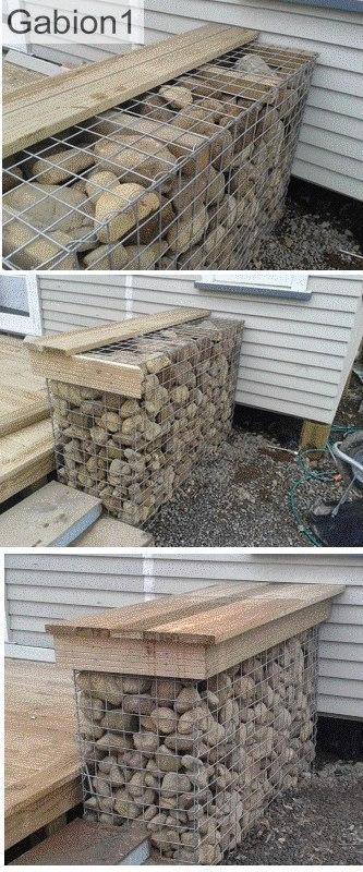 gabion seat construction