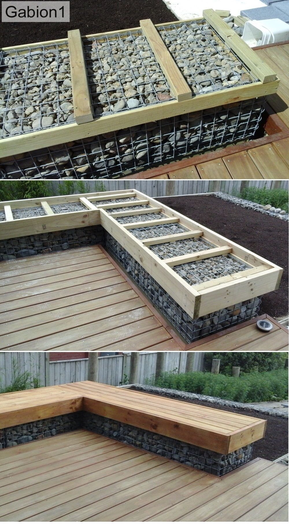 gabion bench detail