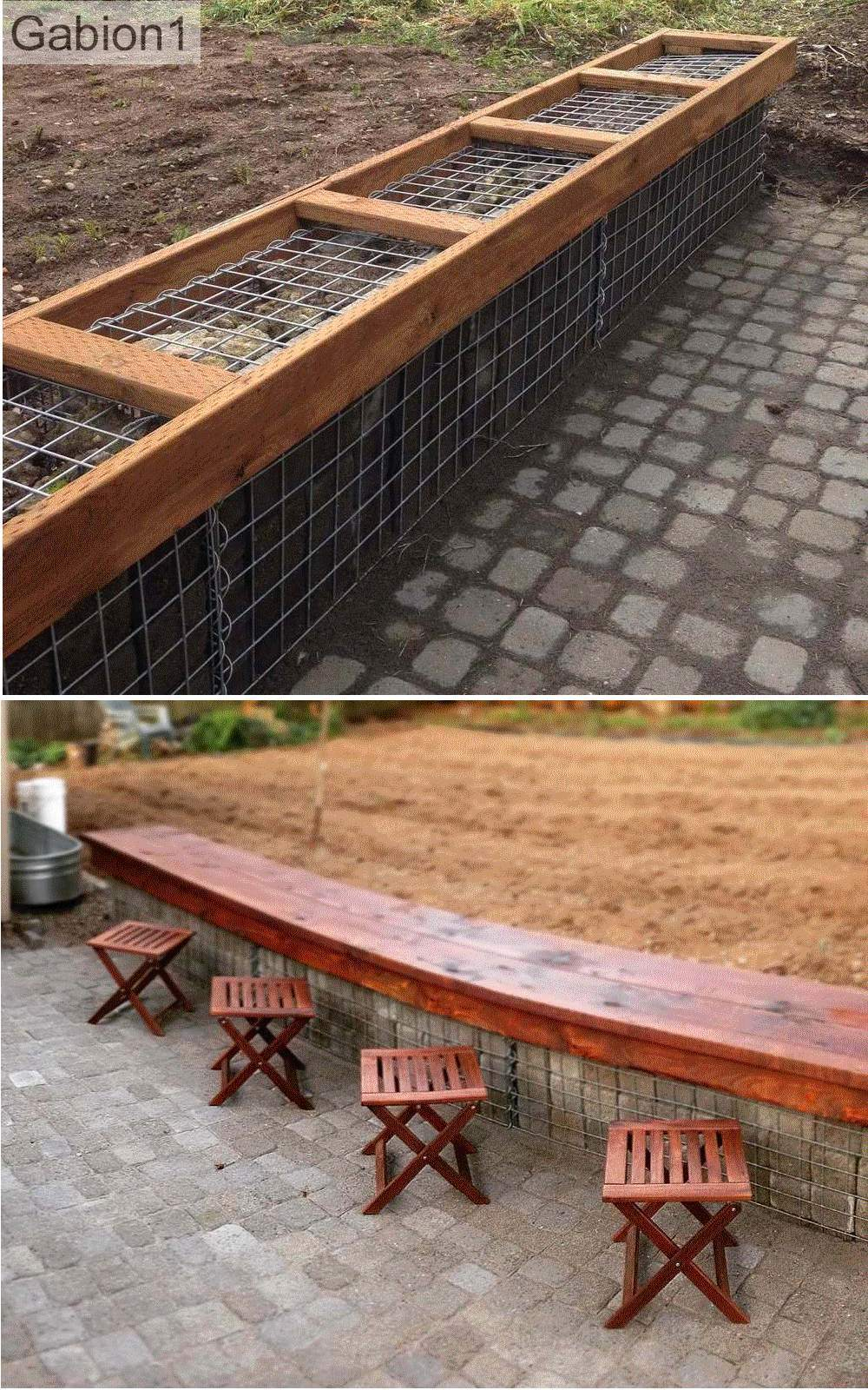 gabion bench seat detail