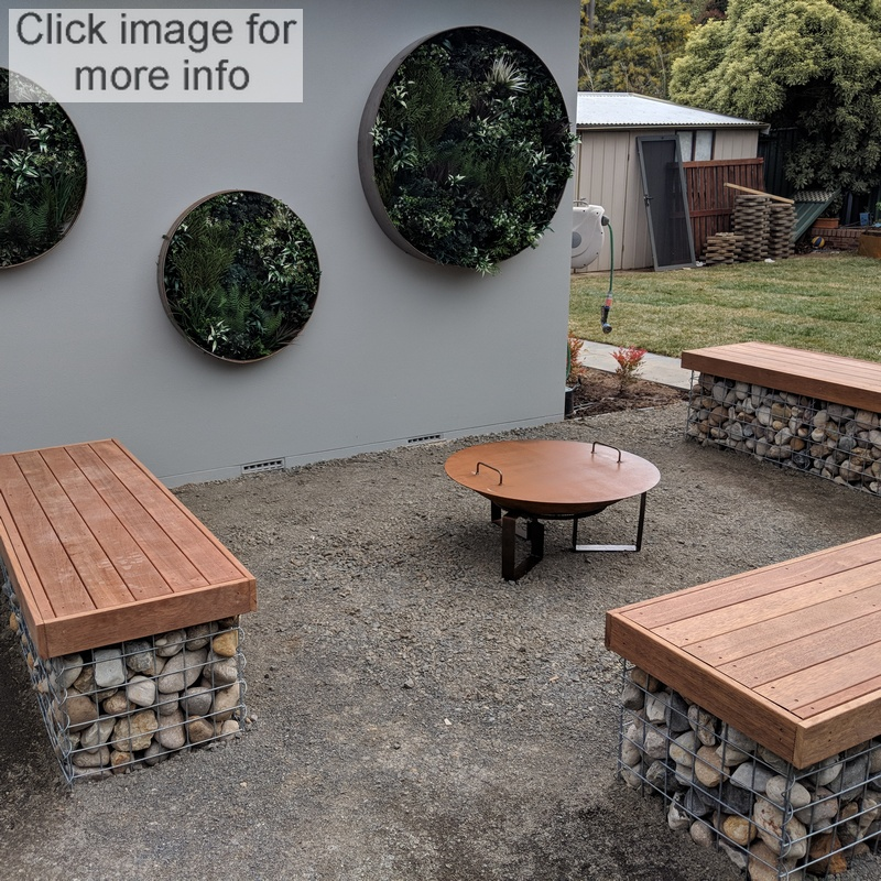 gabion fire pit seating