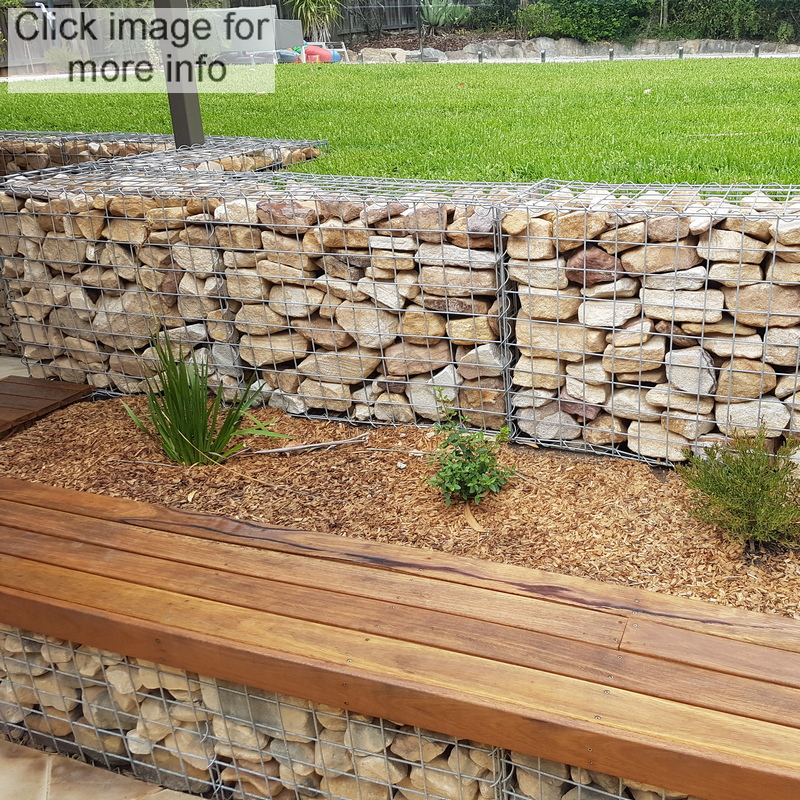 gabion seat and wall