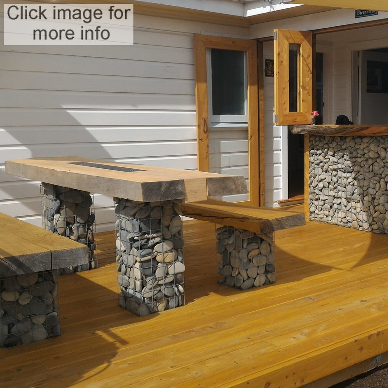 gabion furniture bar