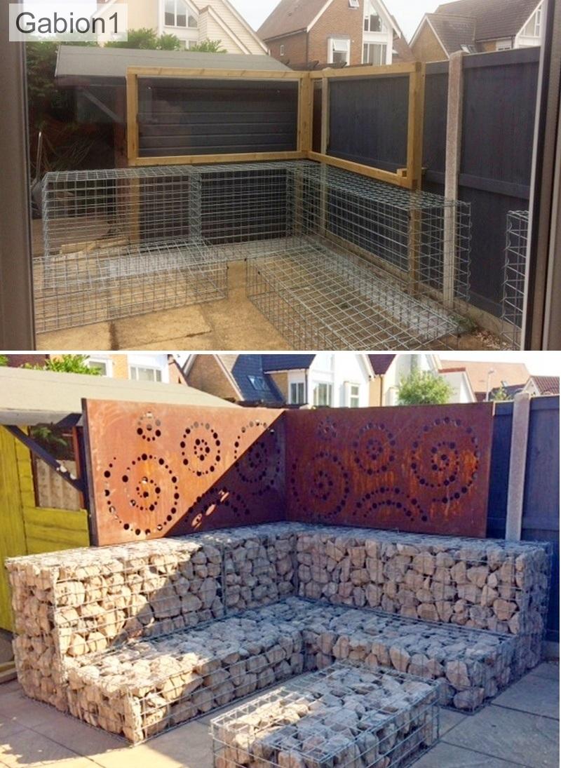 gabion fence construction