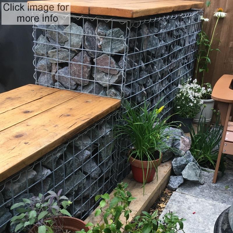 gabion garden seat