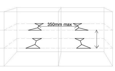 bracewire spacings