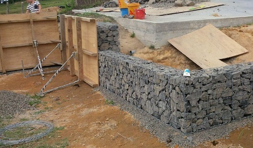 formwork to hold shape